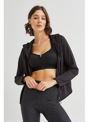 Penti Kadın Siyah Performer Ceket Sweatshirt PHSBJX7Y20SK Siyah